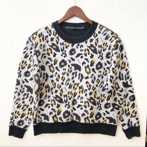 & Other Stories Leopard Print Sweatshirt